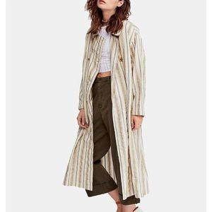 Free People Sweet Melody Duster Trench Size Medium